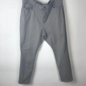 NYDJ Gray Silver Skinny Legging Jegging 20W